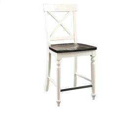 Mountain Retreat - X-back Barstool W/wood Seat