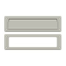 "Mail Slot 13 1/8"" with Interior Frame - Brushed Nickel"