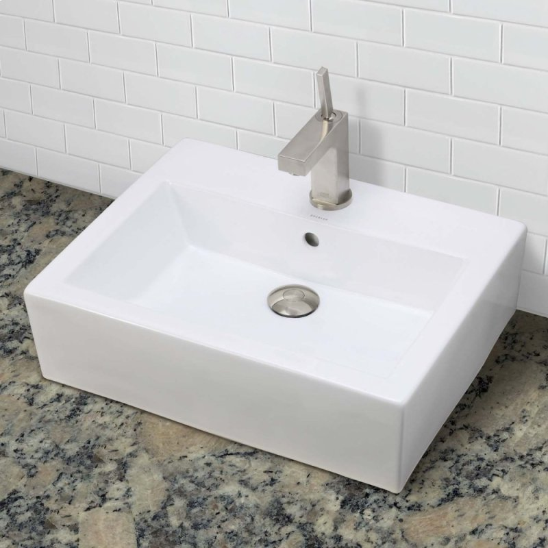 Bluebell Rectangular Above Counter Vitreous China Bathroom Sink Cwh