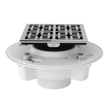 "Polished Chrome PVC 2"" X 3"" Drain Kit With 3142 Weave Decorative Cover"
