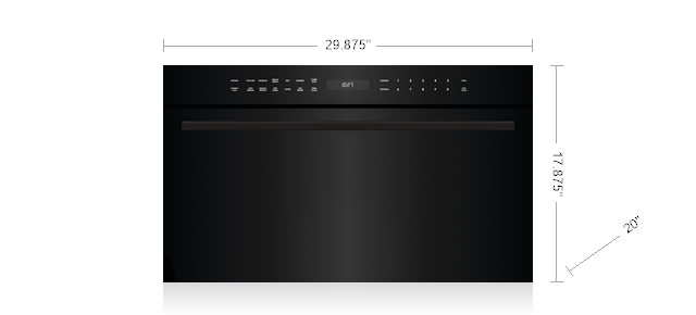 """Wolf30"""" E Series Contemporary Drop-Down Door Microwave Oven"""
