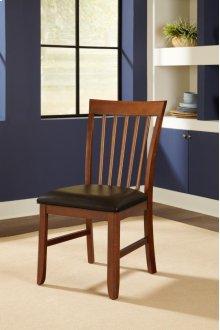 Slatback Upholstered Side Chair
