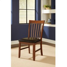 Slatback Upholstered Side Chair