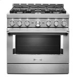 KitchenaidKitchenAid(R) 36'' Smart Commercial-Style Gas Range with 6 Burners - Stainless Steel