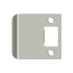 """Extended Lip Strike Plate, 2 1/2"""" Overall - Brushed Nickel"""