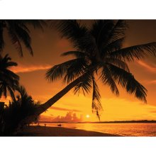 Sunset Fire Outdoor Canvas Art
