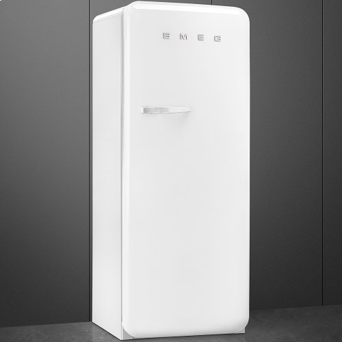 "Approx 24"" 50'S Style Refrigerator with ice compartment, White, Right hand hinge"