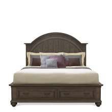 Belmeade Queen Storage Footboard Old World Oak finish