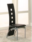 Valencia Black Side Chairs 2pk Product Image