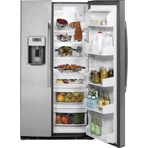GE Profile™ Series ENERGY STAR® 25 3 Cu  Ft  Side-by-Side Refrigerator