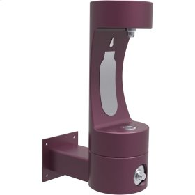 Elkay Outdoor ezH2O Bottle Filling Station Wall Mount, Non-Filtered Non-Refrigerated Freeze Resistant Purple