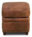 Papa's Footstool, Brown Fabric/Leather Product Image