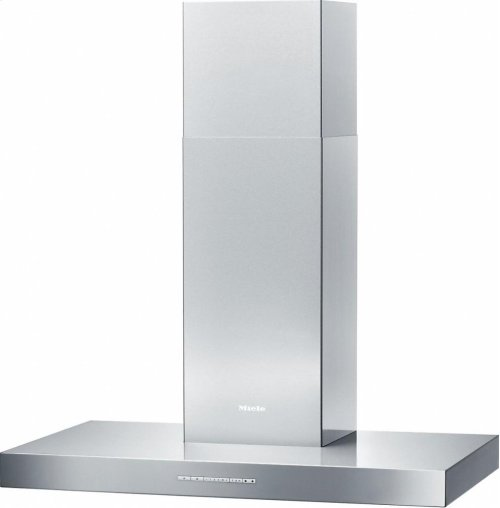 DA 6596 W Puristic Canto AM Wall ventilation hood with energy-efficient LED lighting and backlit controls for easy use.