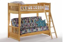 Cinnamon Twin/Futon Bunk in Natural Finish
