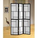 Contemporary Black Three-panel Screen Product Image