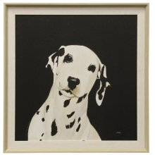 Dakota II  Made in USA  Transitional Dog Portrait Wall Art  Textured Framed Print