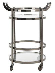 Sienna 2 Tier Round Bar Cart - Gunmetal