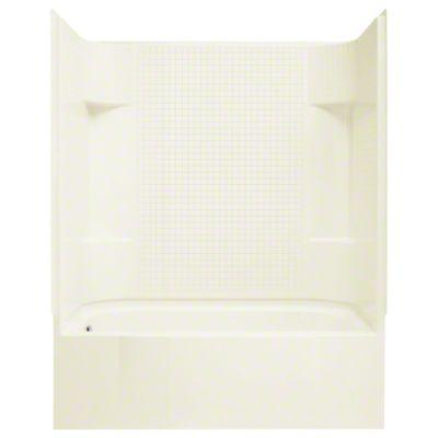"Accord®, Series 7114, 60"" x 30"" x 74"" AFD Tile Bath/Shower - Left-hand Drain - KOHLER Biscuit"