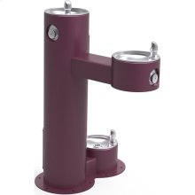 Elkay Outdoor Fountain Bi-Level Pedestal with Pet Station, Non-Filtered Non-Refrigerated, Freeze Resistant, Purple