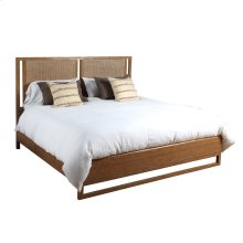 Queen Leeward Finish Cane Panel Bed