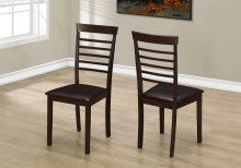 """DINING CHAIR - 2PCS / 37""""H CAPPUCCINO / DARK BROWN SEAT"""
