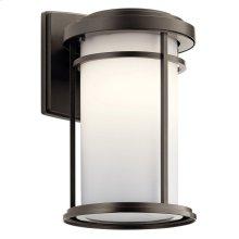 "Toman 13.5"" 1 light Wall Light with LED Bulb Olde Bronze®"