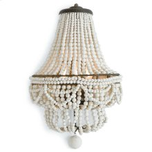 Malibu Sconce (weathered White)