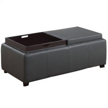 Manhattan II Double Tray Ottoman in Grey