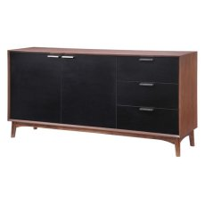 Liberty City Buffet Walnut & Black Product Image