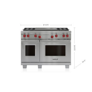 "Wolf  48"" Dual Fuel Range - 4 Burners and Infrared Dual Griddle"