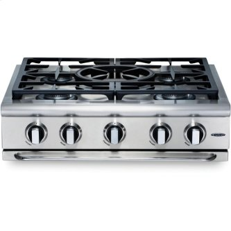 "30"" 5 Burner w/Power-Wok Gas Rangetop - LP"