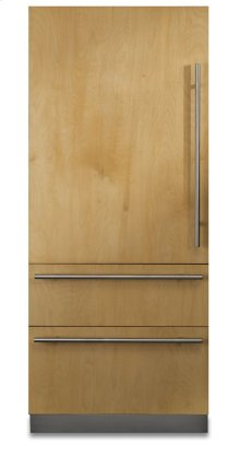 "COMING SOON: 36"" Custom Panel Fully Integrated Bottom-Freezer Refrigerator, Left Hinge/Right Handle"