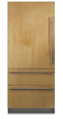 "36"" Custom Panel Fully Integrated Bottom-Freezer Refrigerator, Left Hinge/Right Handle"