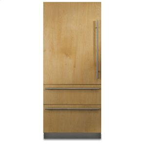 "Viking36"" Custom Panel Fully Integrated Bottom-Freezer Refrigerator, Left Hinge/Right Handle"