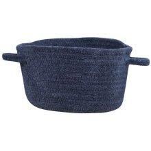 Dark Blue Chenille Creations Basket
