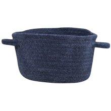 Dark Blue Chenille Creations Basket