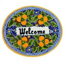 'Welcome' Ceramic Plaque in Peaches Product Image