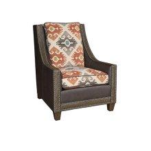 Elsa Leather Fabric Chair, Elsa Ottoman