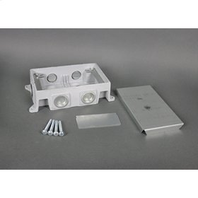 880CM2-1 - Omnibox Series Shallow Cast-Iron Floor Box
