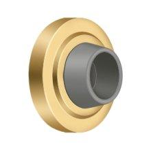 "Concave Flush Bumper 2-1/2"" Diam. - PVD Polished Brass"