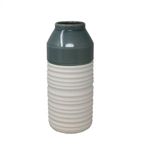 "Green/white Vase 10"""