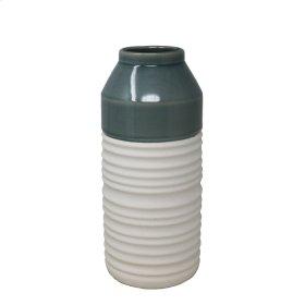 "Green/white Vase 12.75"""