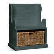 Hall Seat w/ Rattan Basket Product Image
