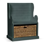 Hall Seat w/ Rattan Basket Product Image