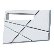 Modernist Left Knob 1 3/4 Inch - Polished Chrome