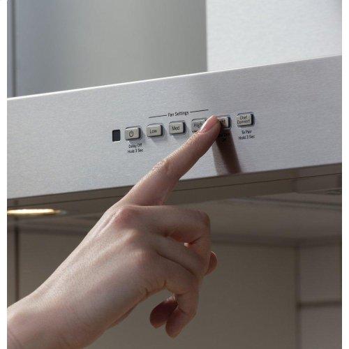 "36"" Designer Wall Mount Hood w/ Dimmable LED Lighting"