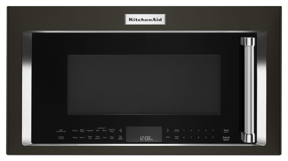 Kitchenaid1000-Watt Convection Microwave Hood Combination - Black Stainless Steel With Printshield™ Finish