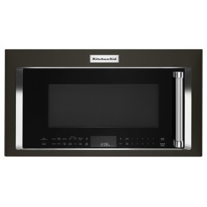 KitchenAid1000-Watt Convection Microwave Hood Combination - Black Stainless Steel with PrintShield™ Finish
