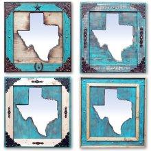 Large Turquois Texas Mirror Da