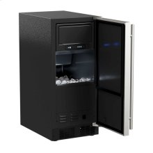 "15"" Marvel Clear Ice Machine with Arctic Illuminice™ - Gravity Drain - Black Door with Left Hinge"